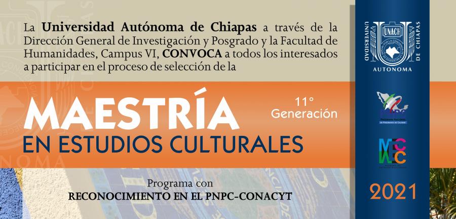 convocatoria MAESTRÍA EN ESTUDIOS CULTURALES