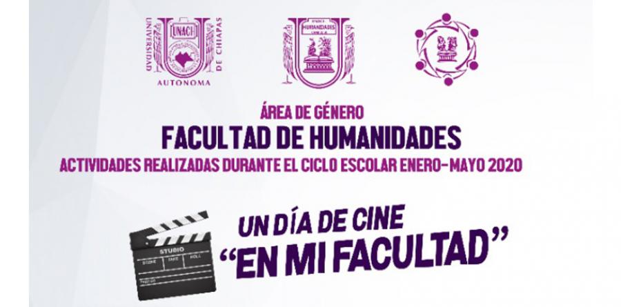 CARTELERA CINE EN MI FACULTAD ÁREA DE GÉNERO